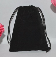 FreeShipping!!!black color  pearl bags ,gift bags and Velvet Bag 8*12cm lots color you can choice!!