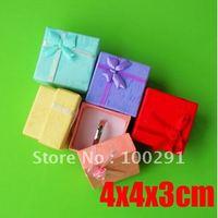 Bulk 100piece 4x4x3cm Ring Box Jewelry Gift Box