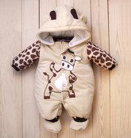Cartoon style cotton baby jumpsuit baby ladybug, cow winter clothing