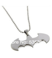 fashion batman pendant &necklace wholesale stainless steel pendant for men free chain 24inch