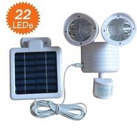 NEW Solar White 22 LED  SECURITY LIGHT SHED GARAGE MOTION SENSOR light