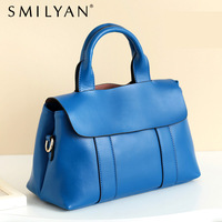 Free shipping!Smilyan new 2013 women's handbag brief genuine leather all-match elegant shoulder bag totes blue purple wholesale