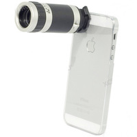 Camera Objectif Zoom 8X Optical Zoom Telescope Camera Lens for Apple iPhone 5 5G with Cover Case + Retail Box