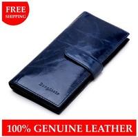 New 2014 women purse genuine leather wallet Oil wax cowhide women's wallets Hasp zipper vintage lady clutch Famous brand Purses
