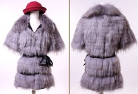 (Free Shipping)New Arrival Fashion Fox Fur Coats Women's Outerwear Winter Natural Fur Apparel(S-XL)Promotion