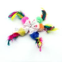 Free Shipping Cat Toys Color Mouse Color Fair 100 pcs/lot T1017