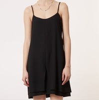 2013 new women's chiffon dress Mesh black chiffon one-piece dress topshop