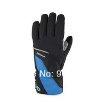 New Long Winter Cycling gloves tenacious leather road mountain bike full finger cycling gloves Black Red Blue 3 Color Size M-XL