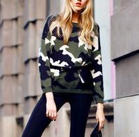 FS49 Camouflage fashion autumn sweater fancy jacquard sweater women's sweater
