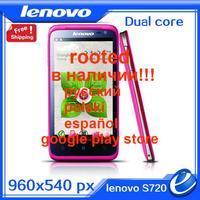 "Origina lenovo S720 In stock 4.5"" QHD Andorid 4.0 MTK6577 GPS WIFI 512 RAM+4GB ROM dual core WCDMA 3G mobile phone FREE SHIPPING"