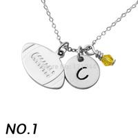 Custom Cheerleader Necklace,Alloy Cheerleading Charm Necklace, Sports Gymnastics Necklace,Cheerleader Hand Stamped Pendant