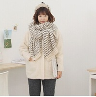 The new hit color knit mohair wool scarves scarf shawl warm!!!FREE SHIPPING