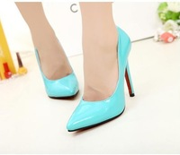 Hot selling 2013 new designer style sexy high quality PU pointed toe women shoes party shoes  free shipping 5 colors retail