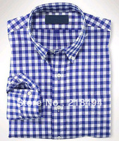 NEWEST Men's Casual Plaid Shirt Spring Autumn Brief T Shirt Long Sleeve Blouses Cheap Shop Drop Shipping