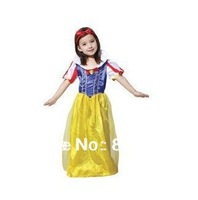 Halloween costume of female children's Snow White Princess Dress Costume stage dress skirt free shipping high quality 1pcs
