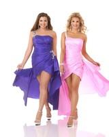 Asymmetrical Sweatheart Beaded Strap Mini Taffeta Plus Size Prom Dress With Ruching HWGJPD46