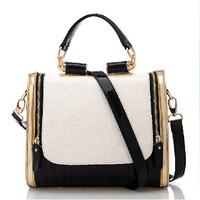 0465 new 2013  England retro wave packet collision color fashion lady shoulder bag Messenger bag woman
