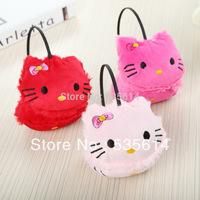 Retail ! Baby Kids Plush earmuffs Cute bowknot KT earflap Princess Warm earmuff 2 Colors Good quality Free shipping