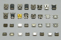 16 models 32 pcs miniUSB connector, Micro USB connector is widely used in a variety of MP3 MP4 MP5 Tablet PC Netbook eBook