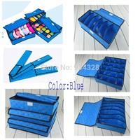 Home Storage set  Blue Hearts printed Underwear Socks Ties Bra Closet Divider Storage Box Organizer Container Case