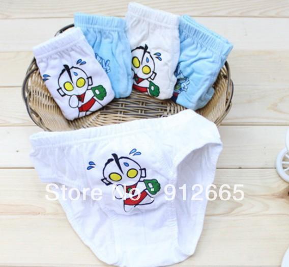 12pcs/lot cartoon boy's briefs underwear kid's panties underpant 1-8years free shipping(China (Mainland))