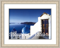 Handpainted Decorate PS Frame Spray Sea Ocean bay Dog Table Chair Fruit House Villa Painting Drawing Paint