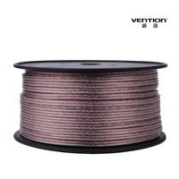 Vention!transparent speaker cable 1M/1PCS/1LOT Speaker wire  akihabara speaker cable audio cable surround 5.1 professional audio