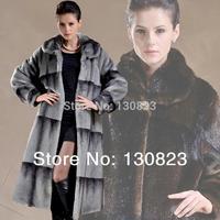 2014 Real Fur Coats Winter Jacket Women free Shipping New Sable Fur Quality Imitation Mink Martens Velvet Overcoat Plus Clothing