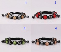 2013 best selling fashion Shamballa bracelets ball disco item crystal bracelet factory wholesale for Unisex(min order$15)