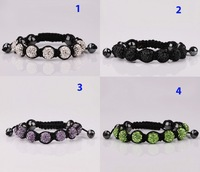 2013 best selling Shamballa bracelets disco 10mm beads bracelet for unisex crystal bracelet factory wholesale(min order$15)