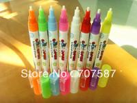 Free shipping!!! 3mm neon pen, glass window pen, erasable pen and wine ceramic writing pen 8pcs