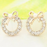 Ювелирный набор 18K Gold Plated Jewelry Wedding Set Nickel Free Plating Platinum Rhinestone CLOVER1110N/S067