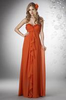 A-Line Sweetheart Floor-Length Chiffon Bridesmaid Dress With Ruching HWGJBD19