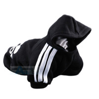 New Pet Puppy Dog  Cat Coat Clothes Hoodie Sweater T-Shirt Black Free Shipping