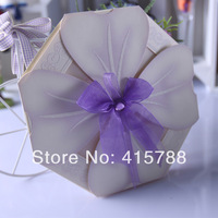 wedding invitation with purple ribbon wedding cards Greeting card  Wedding Favor Free Shipping