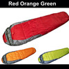 1pcs Mummy Outdoor sleeping bag spring/summer/autumn 3 season sleeping bag red,green,orange color free shipping