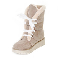 2013 thickening thermal cotton boots martin women's shoes boots flat heel lacing boots