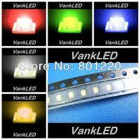 5Valuesx4000pcs/reel=20000pcs 0603 Ultra Bright SMD LED Red/Green/Blue/White/Yellow