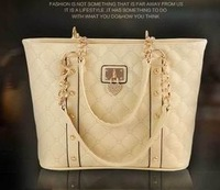 high quality fashion elegant designer brand women's PU leather tote handbag shoulder bag for women 2013, wholesale QY1