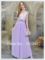 Free Shipping!New Fashion summer style purple chiffon fairy  culottes female waist trousers  T6033
