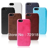 2014 Promotion 3pc/lot New Arrival For Iphone5c High Quality Dormancy Sleep Function Cover Flip Battery Case For Free Shipping