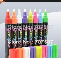 6mm neon board glass cup wine glass pen whiteboard pen blackboard pen erasable pen 8pcs Free shipping