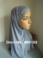 m1895 Free Shipping Two Pieces Assorted color At Randomly Muslim Hijab Comfortable Islamic Caps