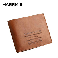 free shiping Male business casual cowhide short wallet design men's horizontal wallet purse