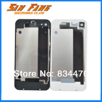 High Quality New Battery Cover Back for iPhone 4 4s white&black Free Shipping