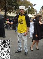 POP One Piece Cosplay Trafalgar Law Coat Clothes Free Shipping