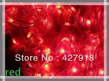 10 pieces Hot 100 LED 10M XMAS Party Wedding Tree Decoration String Light EU US UK Plug led strip free shipping(China (Mainland))