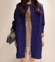 3 colors 2013 NEW women's woolen overcoat thickening wool  blends loose plus size trench outerwear winter coat  woolen jacket