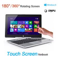 Ultra thin Grefu R116 360 Rotatable 11.6 inch Touch Screen Windows 8 Netbook Intel Dual core Wi-Fi HDMI 2G DDR3 320G HDD