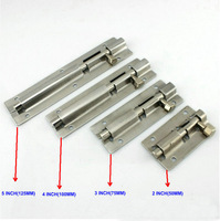 3Inch=75MM Long (30MM Width, 7MM Rod Dia) Stainless Steel 304 Security Door Bolt, Door Drop Bolt, Door Latch, 10PCS/Lot